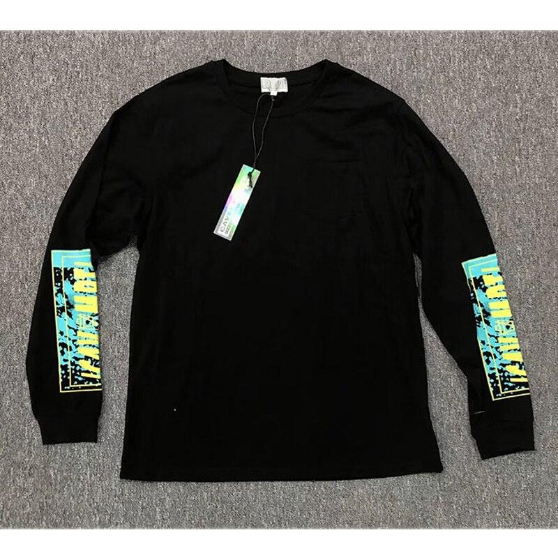 C. E. Cavempt camisetas de manga larga de gran tamaño con impresión de tinta