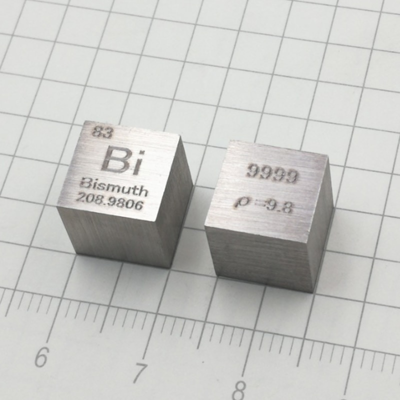 Pure Bismuth Metal Periodic Table Cube Bismuth Cube High Purity Bismuth 10*10*10mm Hobby Display Collection