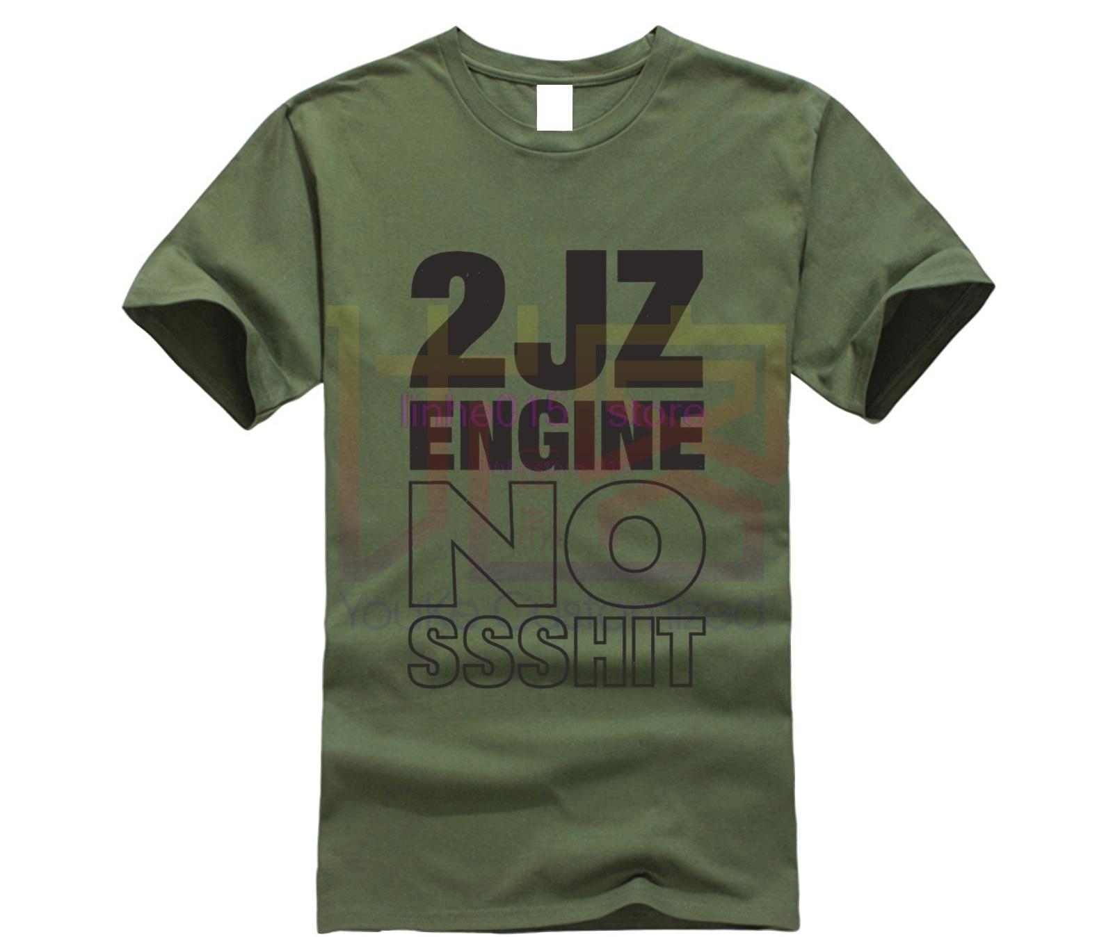 Лидер продаж, летняя 2JZ японская футболка с изображением автомобиля 2JZ, футболка с двигателем, тюнинг турбины JDM, высокое качество, мужские ру...