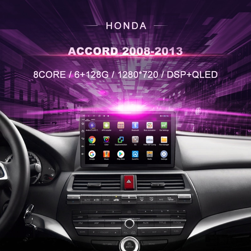 Android Car DVD GPS For Honda Accord 8 ( 2008-2012) Car Radio Multimedia Video Player Navigation GPS Android 10.0 Double Din