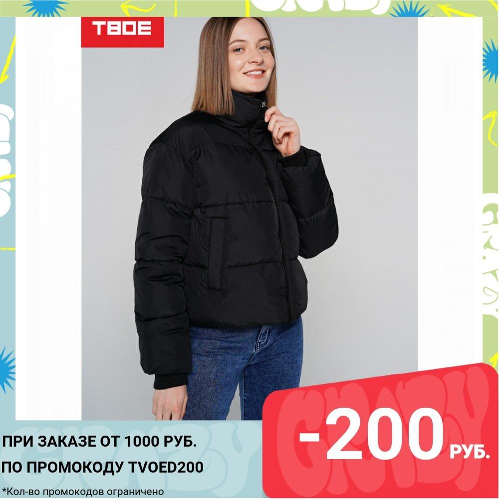Куртка на синтепоне ТВОЕ женская черная FASHION