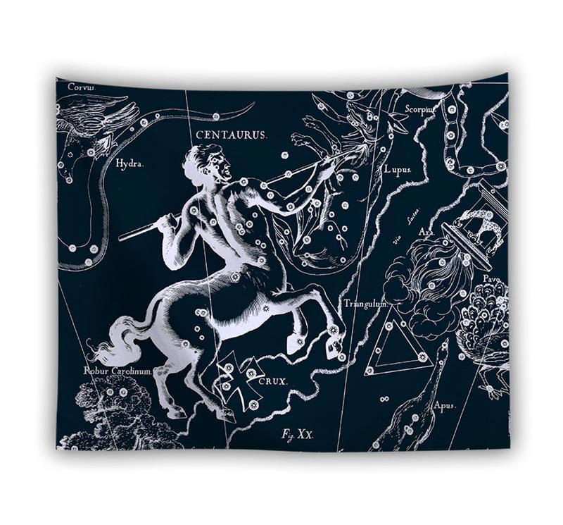 Настенный гобелен с изображением созвездий, гобелены в стиле Триппи, хиппи, пляжное полотенце, шаль, простыня, украшение для дома и комнаты