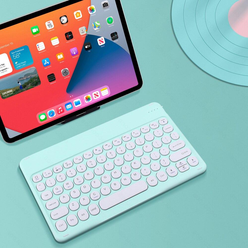 لباد لوحة المفاتيح اللاسلكية بلوتوث لوحة المفاتيح teclado اللوحي لباد شاومي سامسونج هواوي اللوحي أندرويد IOS ويندوز