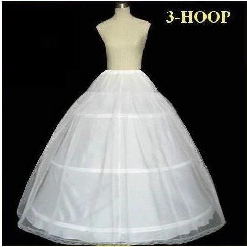 Underskirt Wedding Slip Wedding Accessories Chemise 3 three Hoops For A Line Wedding Dress Petticoat Crinoline