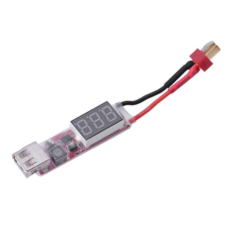 Juguetes RC & Aficiones batería y cargador-2 S-6 S a convertidor de energía USB adaptador con pantalla Digital 5V 2A-T macho-1x2 S-6 S Lipo