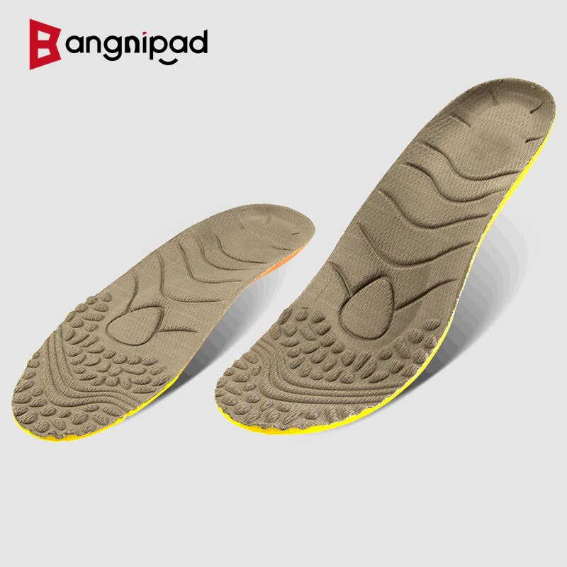 BANGNIPAD Flat Foot Sports Insoles Arch Support Shock-Absorb Orthopedic sole Deodorization Shoes Pad Inserts for Men Women