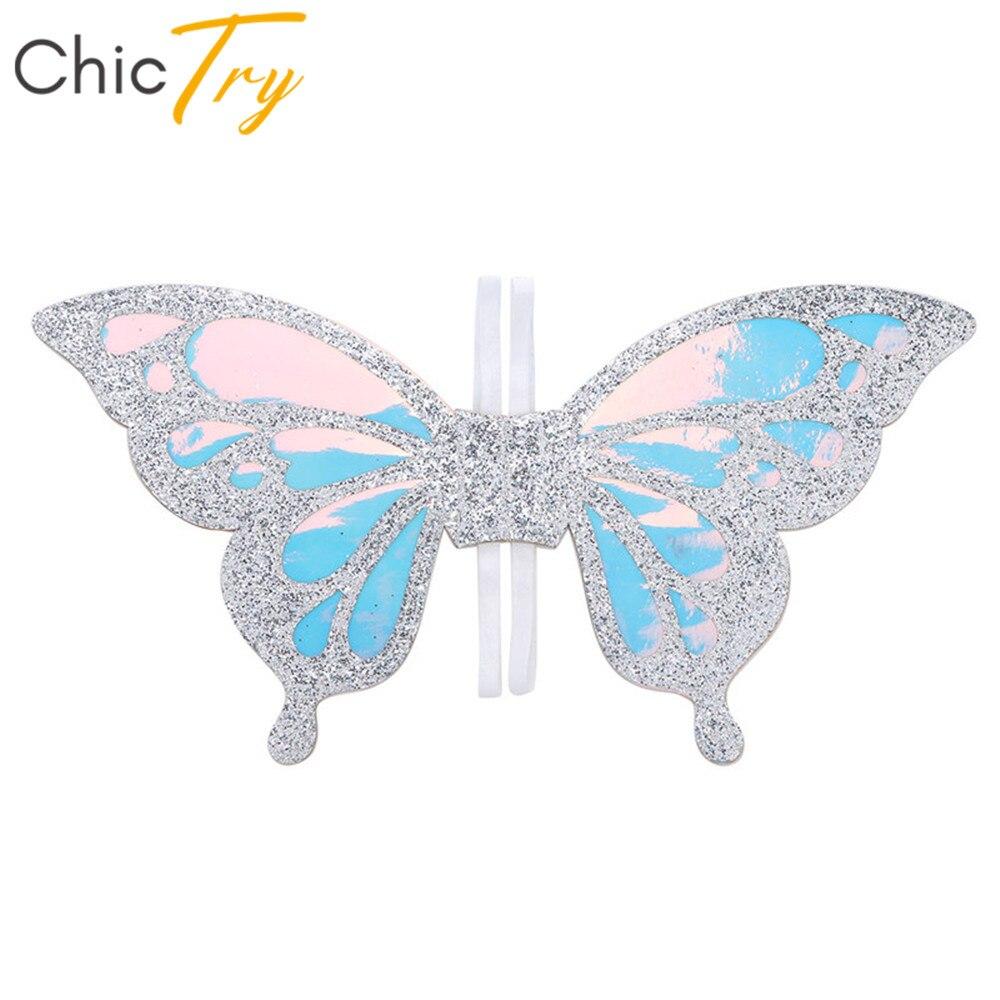 Chicty niños niñas brillantes alas de hadas fiesta de cumpleaños Cosplay princesa traje de escenario actuación Roleplay Accesorios