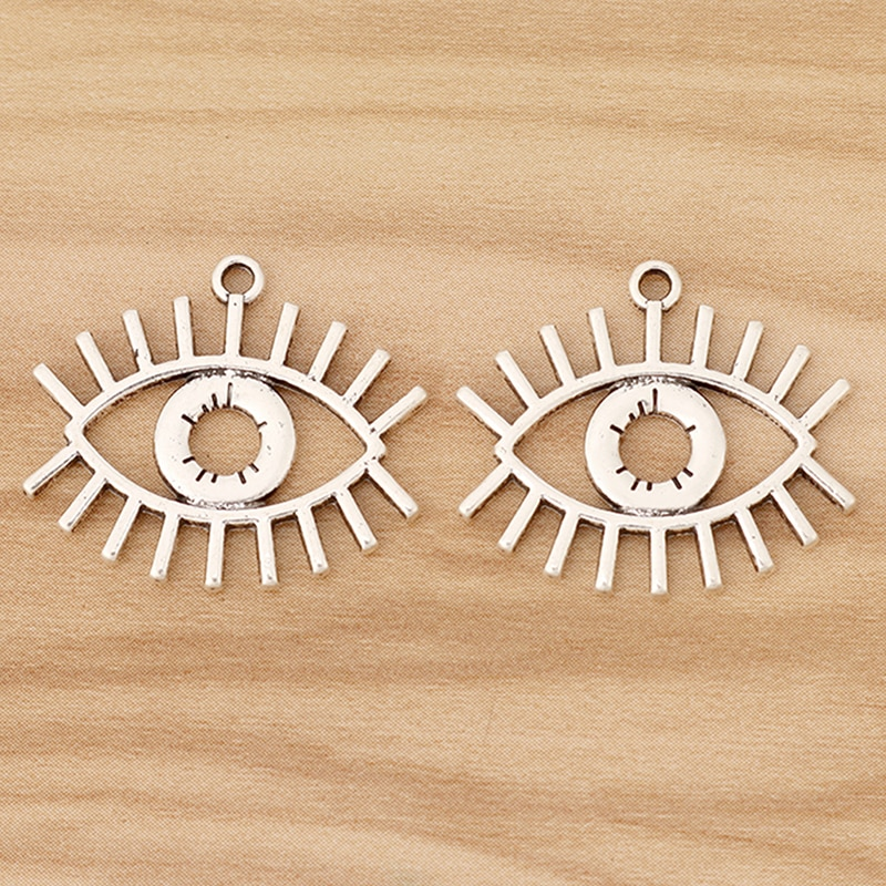 20 Pieces Tibetano Prata Olho De Horus Egípcio Pingentes Encantos para Colar Brinco Jóias Fazendo 25x22mm