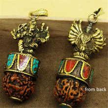 Hindu Ganesh Amulets Brass Golden Multi-hands Ganesh Pendants Tibetan Rudraksha Bodhi Pendants TBP665