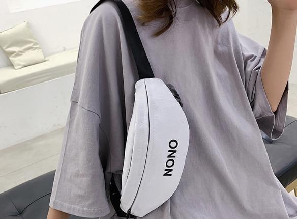 HJKL Taille Tasche Fanny Pack Frauen Gürtel Taschen Ptgirl 2020 Neue Trend Brust Packs Banana Taschen Leinwand Material Hip Hop paket Bum Taschen