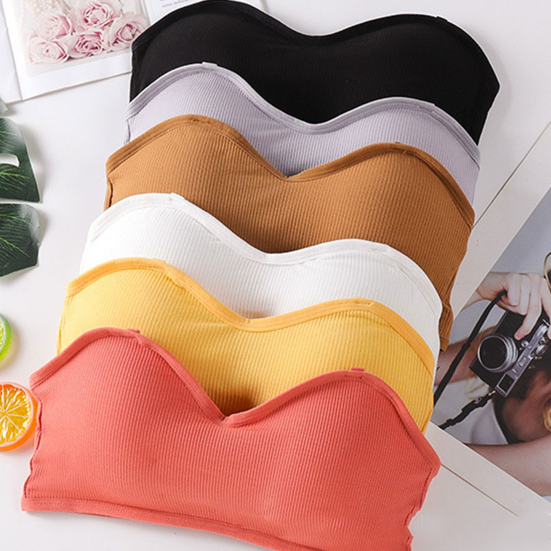 AliExpress - Women Seamless Tube Top Invisible Bra Sexy Lingerie Brassiere Padded Bra Bandeau Tube Top Strapless Push Up Crop Tops