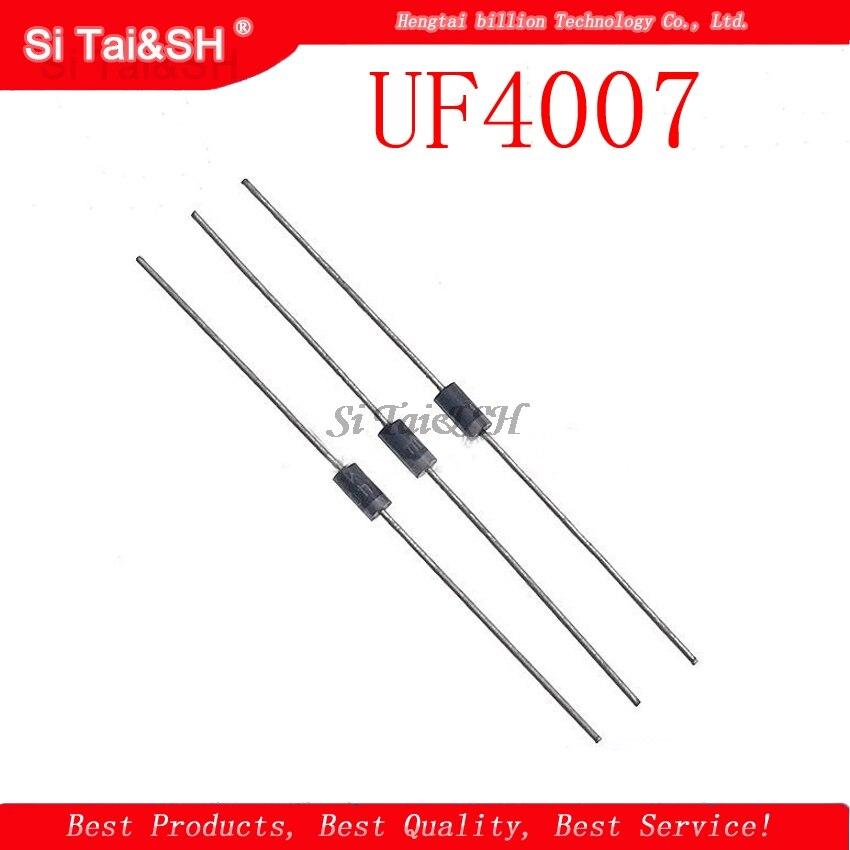 100pcs UF4007 DO-41 Rectifier Diode 1A 1000V   New original