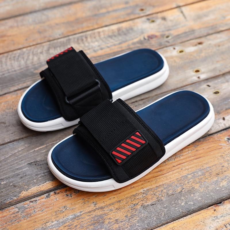 2020 Summer Boys Girls Blue Slippers Kid Home Outdoor Leisure Sandals Children Men Non-slip Soft Material Beach Shoes Swimming