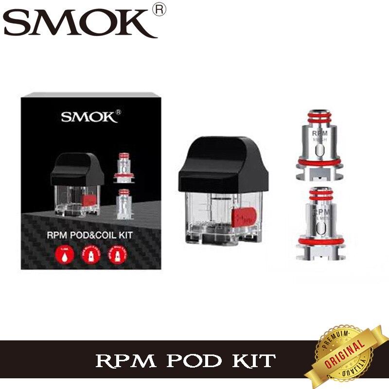 Original humo RPM Cápsula de 4,3 ml RPM cartucho con RPM de malla de 0.4ohm MTL-Malla de 0.3ohm bobina vaporizador para humo RPM40 Pod vape Kit