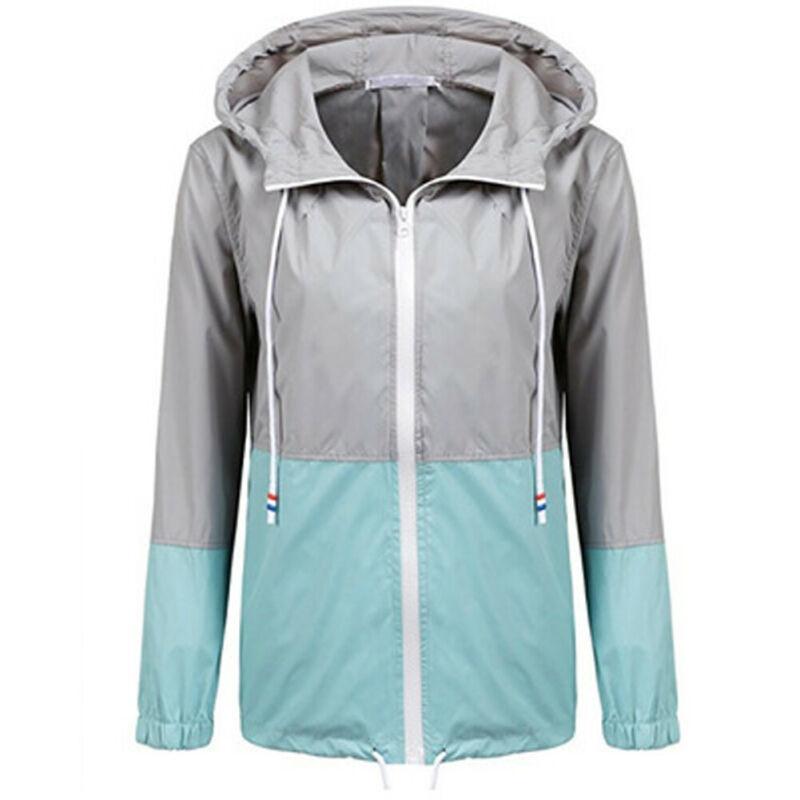 2019 chaqueta impermeable con capucha ligera de moda para mujer chaqueta de lluvia deportiva para mujer