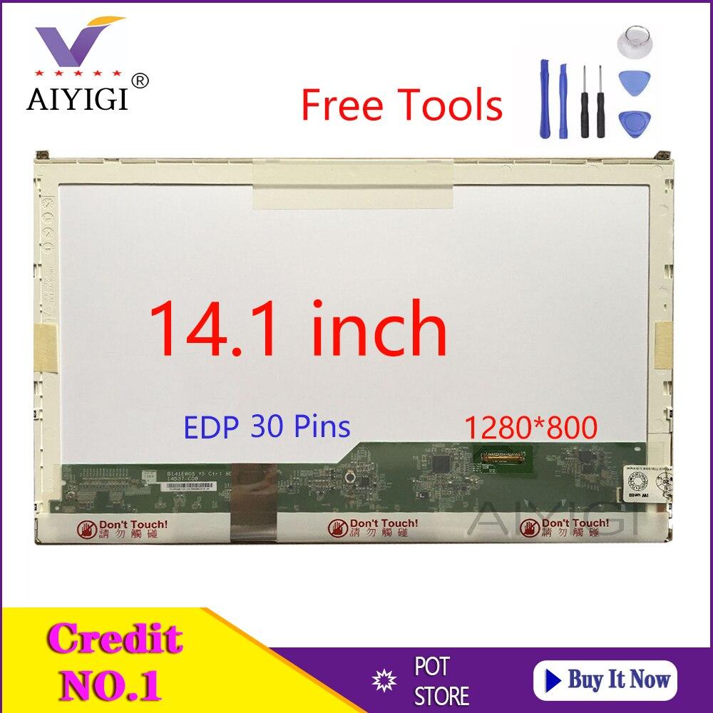 14.1 Inch Laptop LCD LED Screen For DELL E6410 Notbook LP141WX5 TPP1 LTN141AT16 B141EW05 V.5 N141I6-