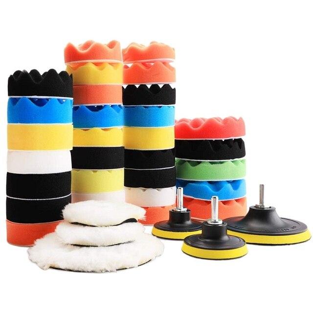 38 шт. набор полировальных подушек полировщик для ухода за автомобилем набор полировки воском