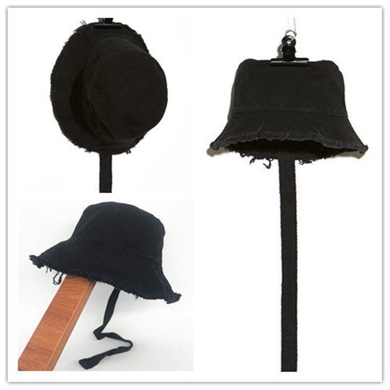KPOP g-dragon, puro algodón lavado a mano, sombrero de sombra con borde plano, sombrero de cubo, banda larga, cordón, colección de Fans y219