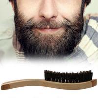 Щетка для бритья мужская с деревянной ручкой, синтетический инструмент для бритья усов и усов, J6A2