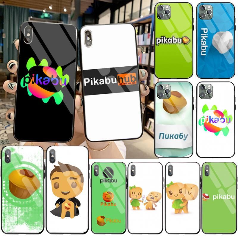 HPCHCJHM pikabu черный мягкий чехол для телефона из закаленного стекла для iPhone 11 Pro XR XS MAX 8X7 6S 6 Plus SE 2020 чехол