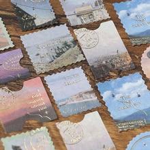 45PCS Roman Holiday Style Sticky Diary Stickers Aesthetic Scrapbook Sticker for Notebooks Stationery