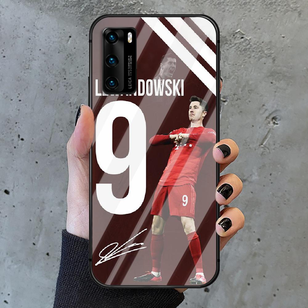 Football Lewandowski Soccer 9 Phone Tempered Glass Case Cover For Huawei P Nova Mate 5T 20 30 40 E Pro Lite Smart 2019 2021 Soft  - buy with discount