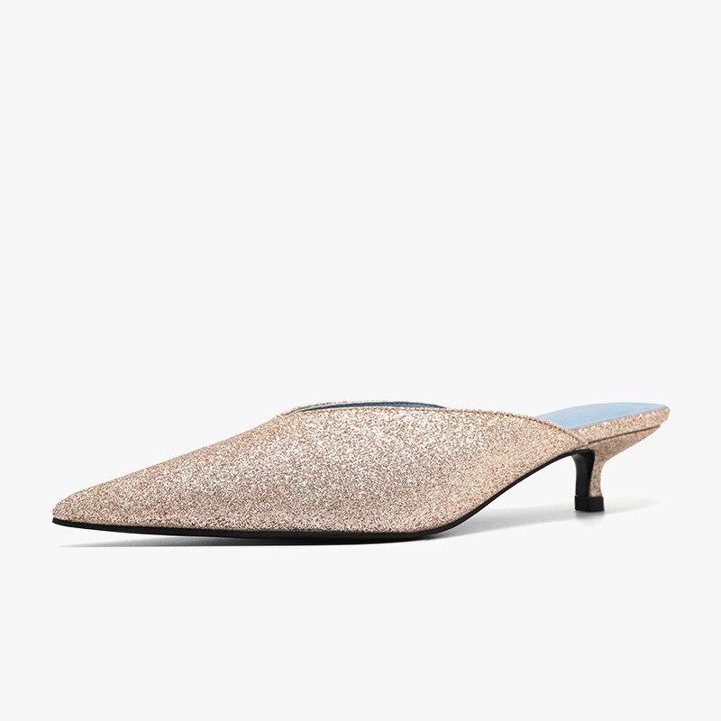 Nueva moda Sliders mujeres mulas Houseshoes fiesta sexy mujeres close-toe zapatos