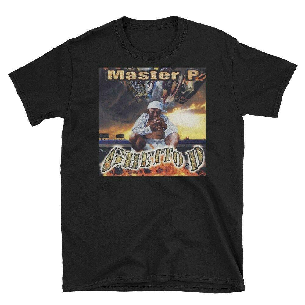 Master P gueto D rapero algodón negro hombres S-4Xl Camiseta de manga corta K1477