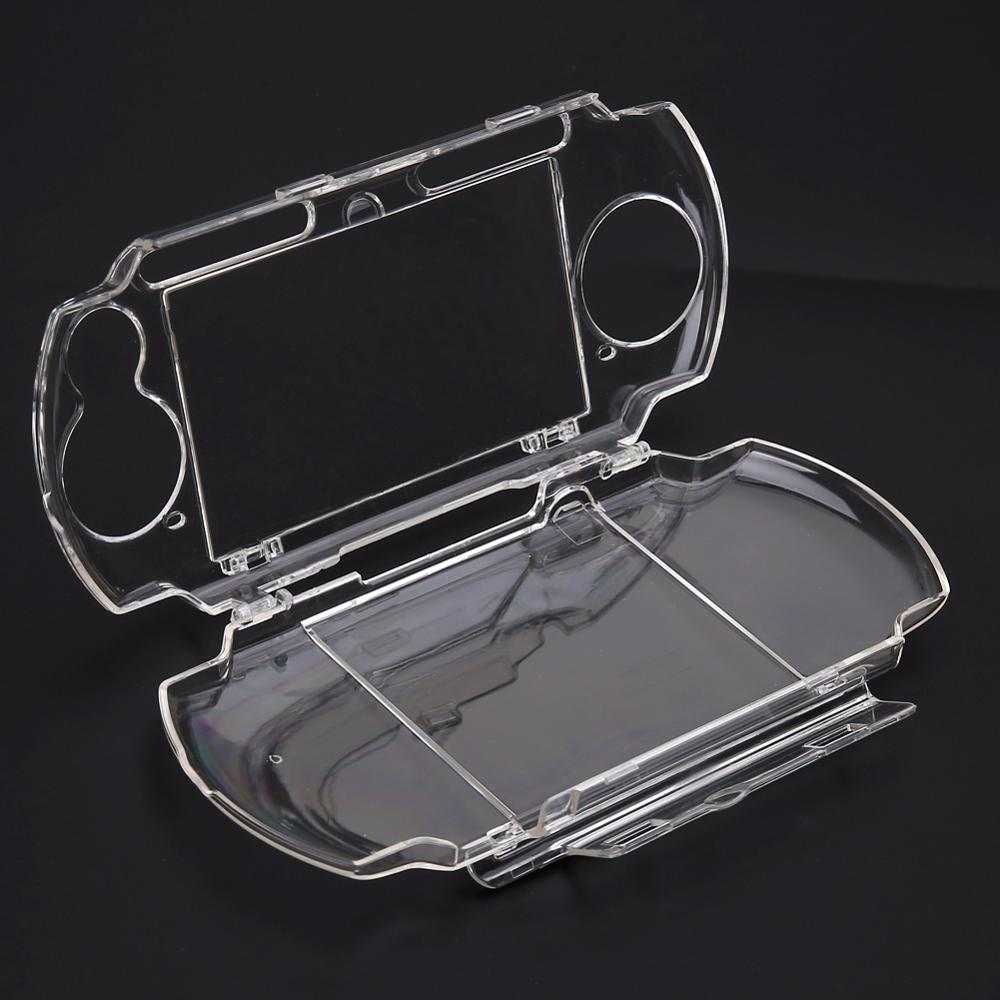 Carcasa transparente para PSP 2000 3000 funda protectora de transporte dura transparente Snap-in Protector de cristal moldes para Sony Playstation