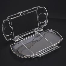 Boîtier Transparent pour PSP 2000 3000 Rigide transparente Transporter Housse Composant Logiciel Enfichable Cristal Étui Protecteur Moules pour Sony Playstation