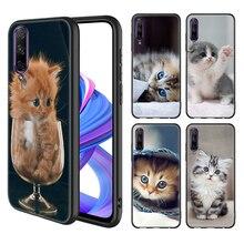 Étui souple en Silicone pour Honor 9S 9C 9S 8X 10i 9X 10 Lite 9X 10 20 Pro 20S 8A 2020 Prime Play coque de téléphone couverture drôle chaton chat