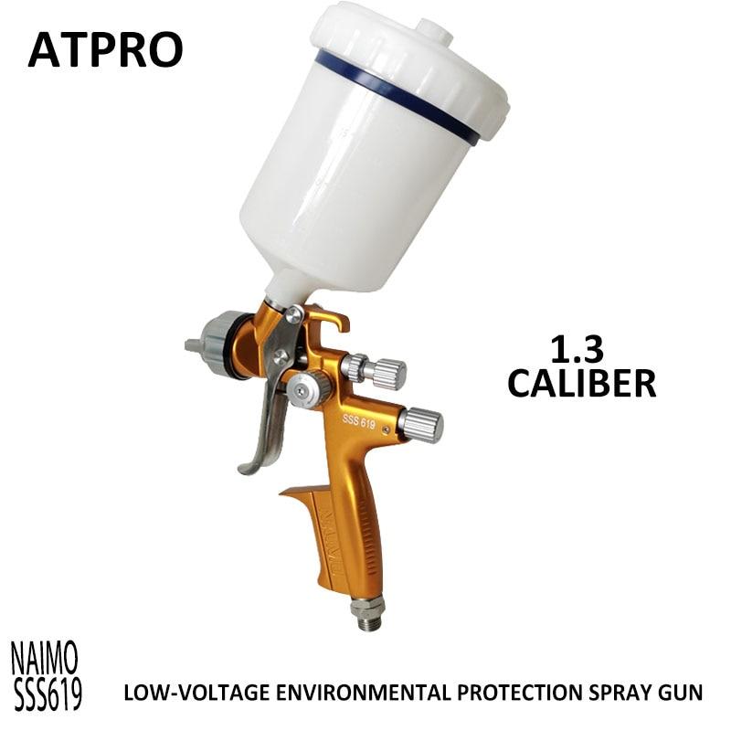 NAIMO SSS619 1.3 Caliber  Paint Spray Gun Pneumatic Tool Coating  Car Spraying  LOW-VOLTAGE Environmental Protection Spray Gun