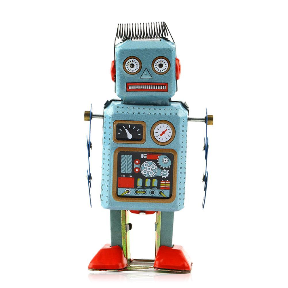 Robot de juguete de Metal para caminar, mecánico y antiguo, regalo para...