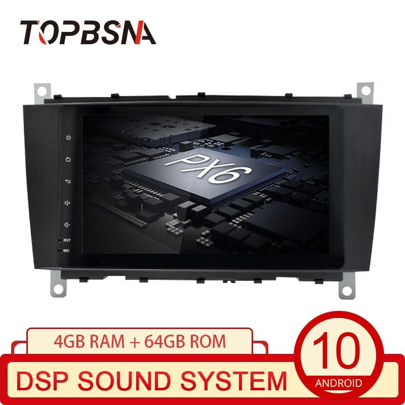 TOPBSNA reproductor de Radio para coche Android 10 para Mercedes Benz Clase SLK R171 SLK200 SLK280 SLK300 SLK350 SLK55 2004-2011 GPS Navi Stereo