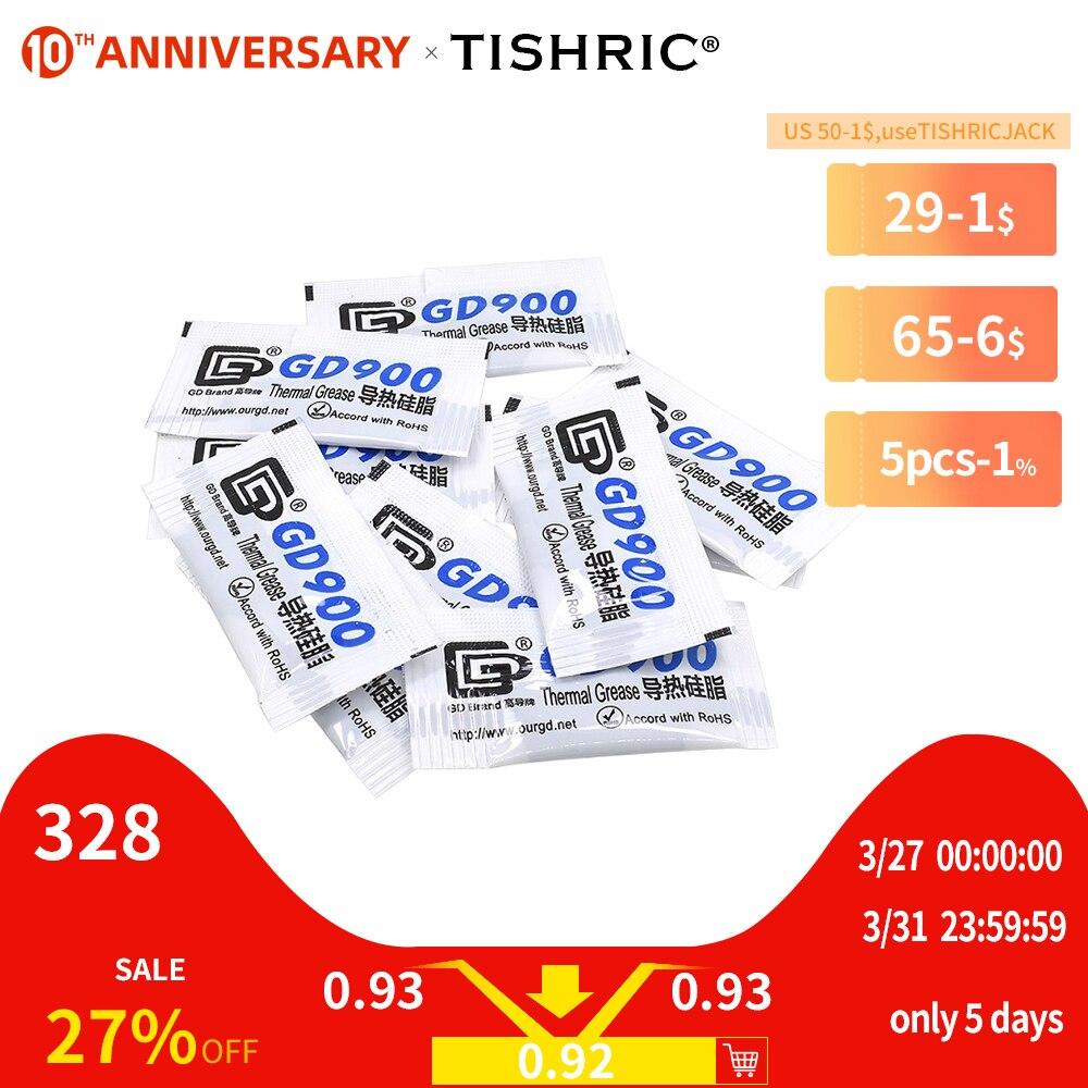 10PCS TISHRIC GD900 Thermal Grease Paste Silicone Compound Conductive CPU GPU Heatsink Plaster Glue Cooler for Processor 0.5G