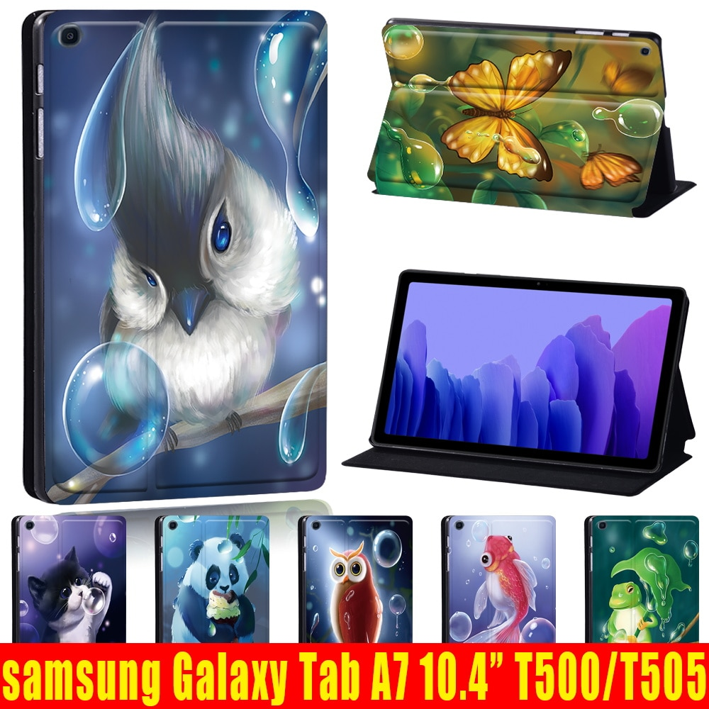 Tablet Case for Samsung Galaxy Tab A7 10.4 Inch 2020 T500/T505 Scratch-Resistant Protective Case + Free Stylus