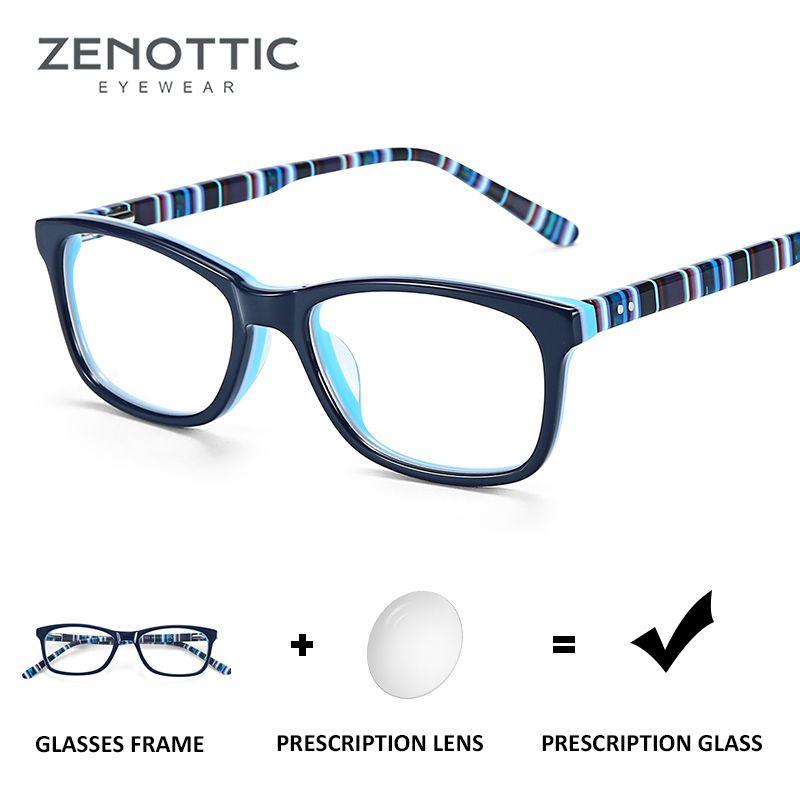ZENOTTIC Children Prescription Glasses for Boys Girls Blue Light Blocking Optical Myopia Progressive