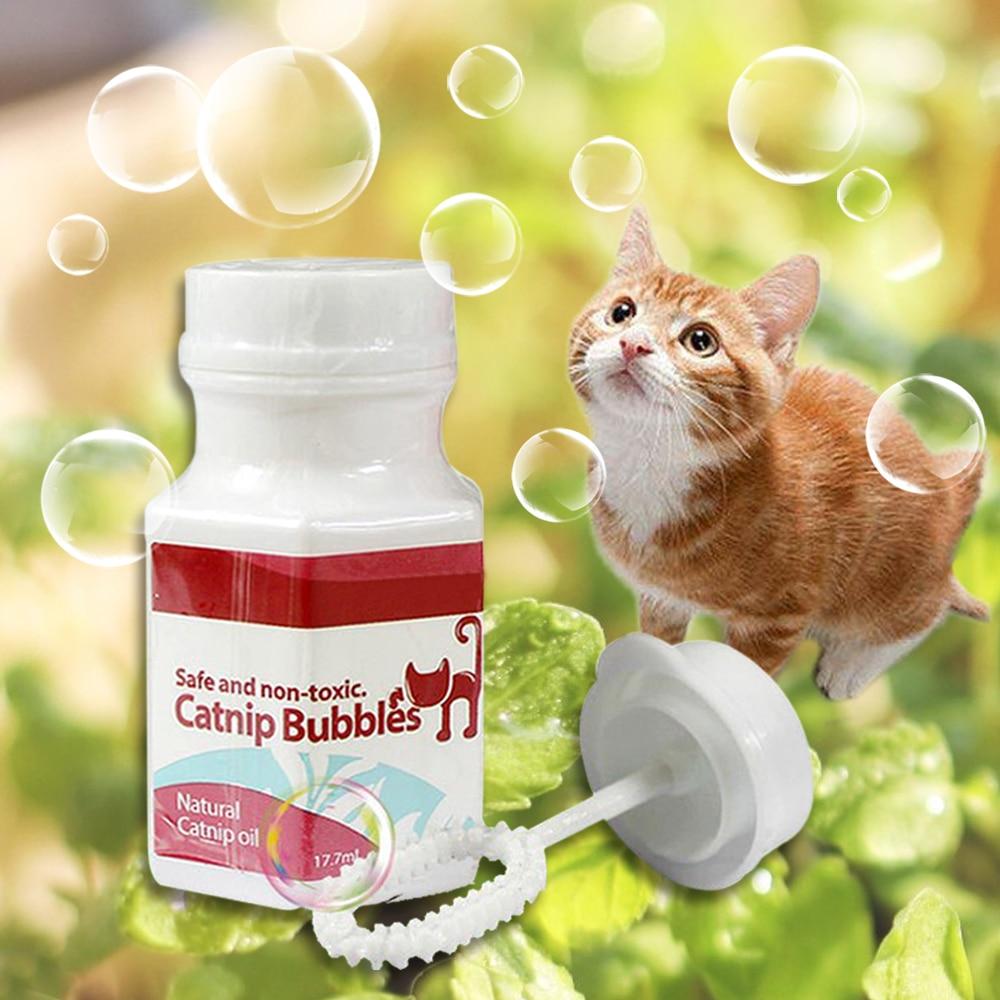 Gato gato de juguete Catnip burbujas de juguetes Kitty soplador de burbujas divertido juguetes interactivos de 18ml/120ml