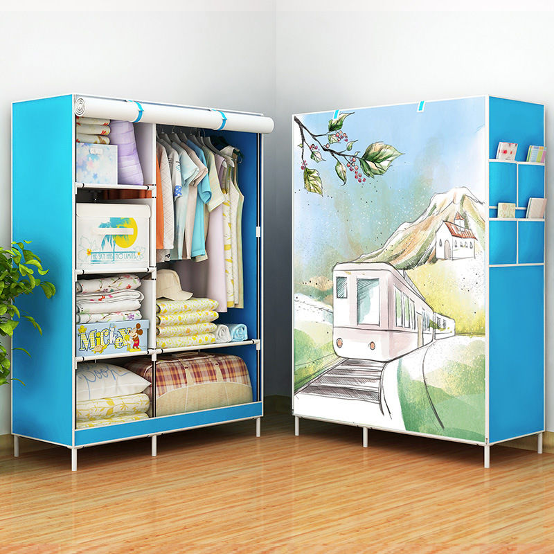 actionclub multifunction non woven cloth closet dust proof moisture proof high quality fabric wardrobe clothes storage cabinet Cloth Wardrobe Furniture Storage Cabinet Fabric Closet Folding Non Woven Portable Waterproof Dust-proof Bedroom Cabinet HWC