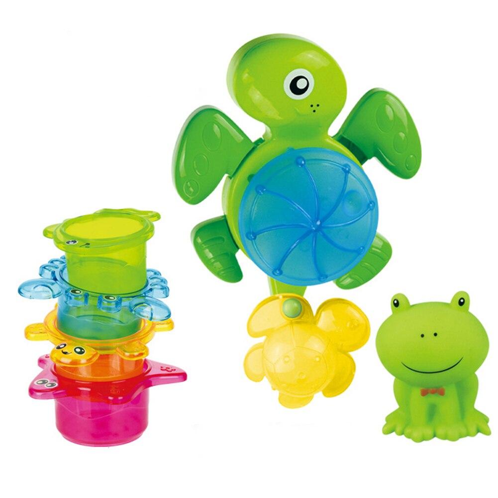 Плавательные детские игрушки, милые маленькие забавные игрушки для купания, Набор детских игрушек для ванны, пластиковый Милый Забавный во...