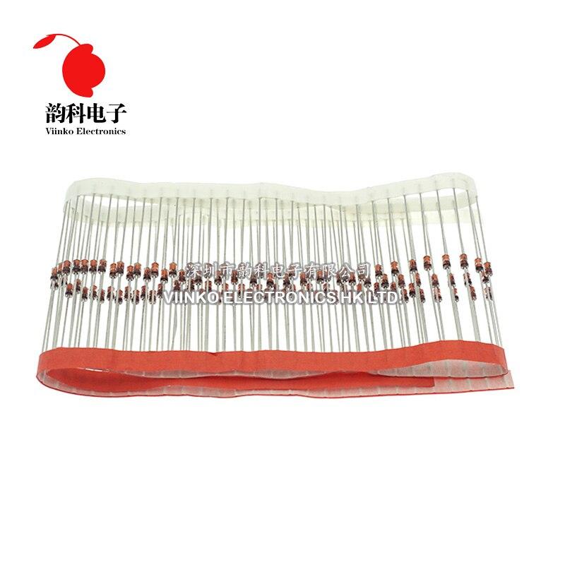 100 Uds 1W diodo Zener hacer 41 3V 3,3 V 3,6 V 3,9 V 4,3 V 4,7 V 5,1 V 5,6 V 6,2 V 6,8 V 7,5 V 8,2 V 9,1 V 10V 11V 1N4727A 1N4732A 1N4740A