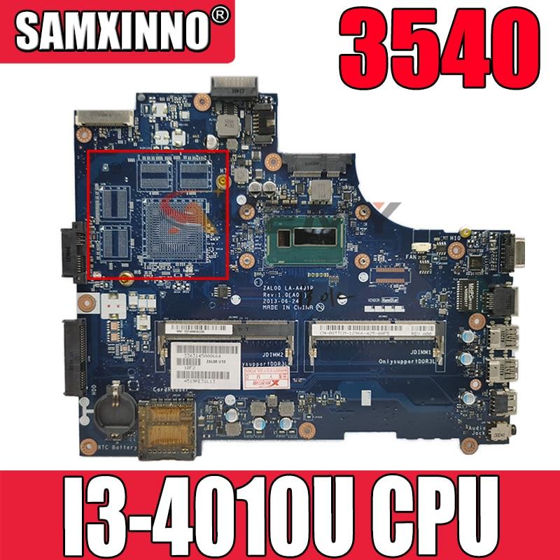 الأصلي اللوحة الأم للكمبيوتر المحمول ديل LATITUTE 3540 كور I3-4005U SR1EK اللوحة الرئيسية CN-0DXN93 0DXN93 zl00 LA-A491P