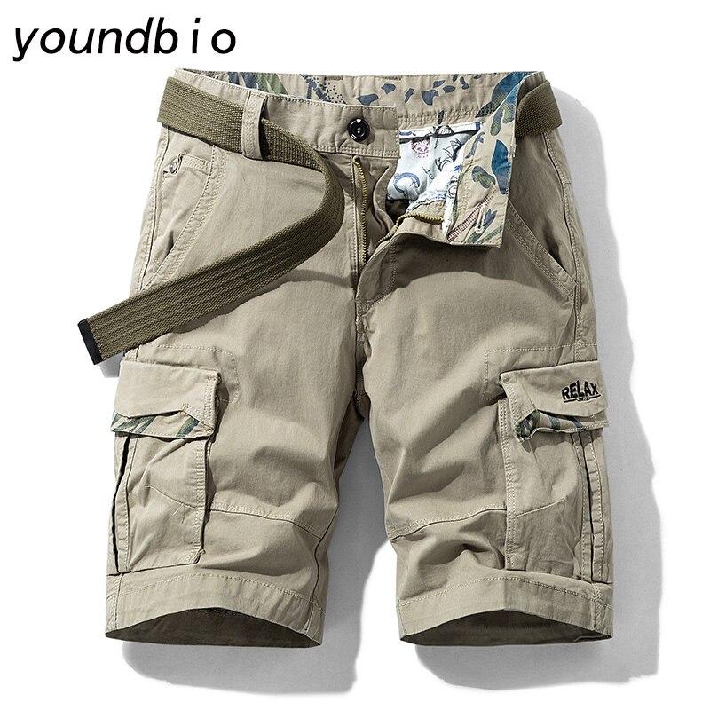 Shorts Summer Cargo Shorts Men Cotton Loose Tactical Short Men Casual Shortsmulti-Pocket Shorts Classic Mens Fashion Shorts