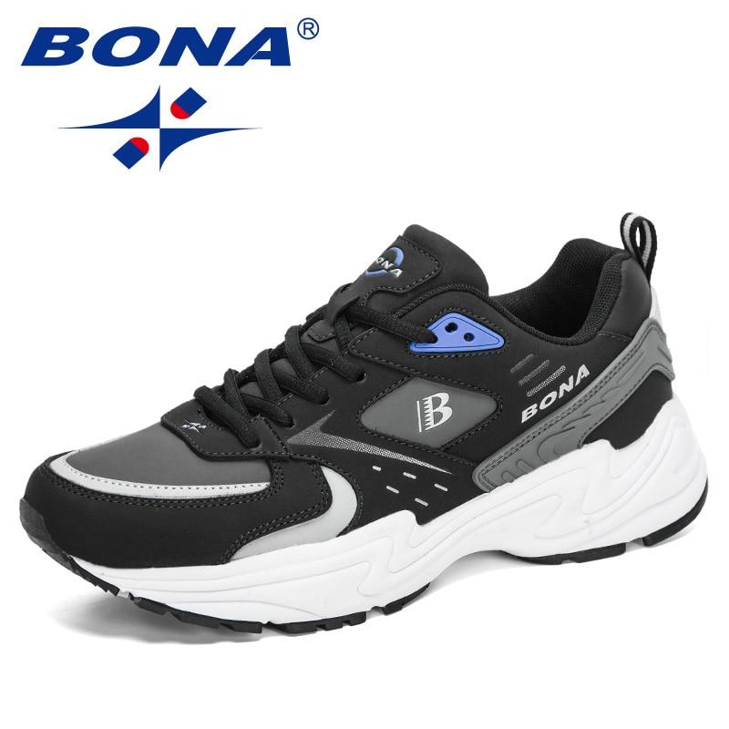 BONA-أحذية جلدية للرجال ، أحذية رياضية مريحة ، أحذية رياضية ، أحذية رياضية ، أحذية رياضية للمشي في الهواء الطلق ، غير رسمية ، مصممة ، مجموعة جدي...