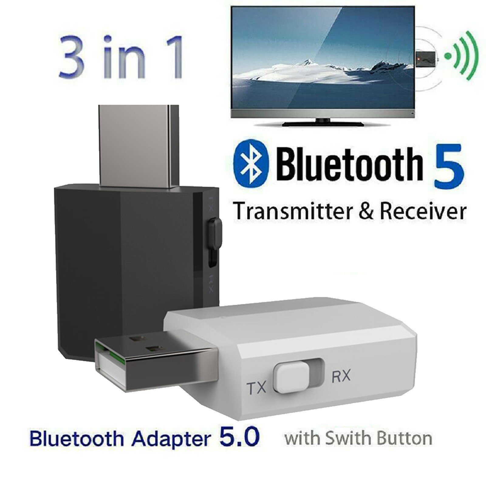 Receptor y transmisor de interfaz estéreo para TV, PC, coche, Grace, USB,...