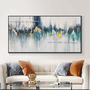 Handmade black green Oil Painting abstract ripple oil painting on canvas wall Art Canvas picture For living room