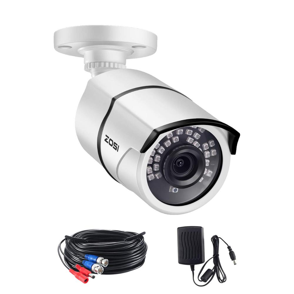 Zosi 5mp super hd ao ar livre/indoor câmera de segurança 36 pces leds, 100ft visão noturna do ir, câmera à prova de intempéries da bala do cctv da vigilância
