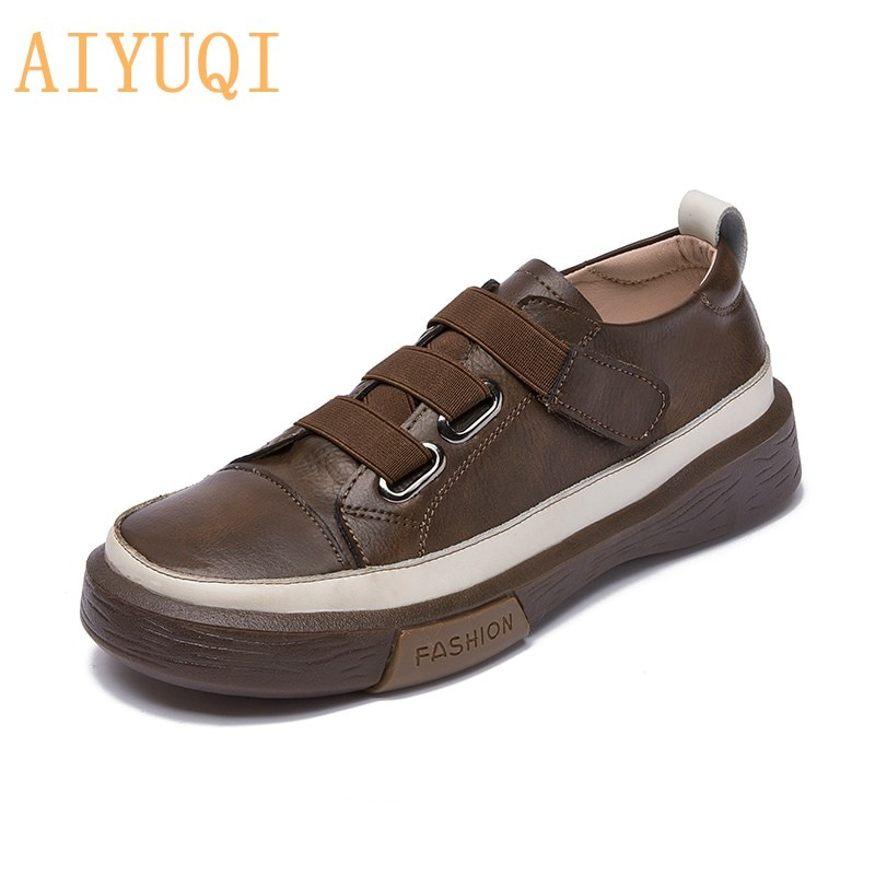 AIYUQI Ladies Sneakers Spring Shoes 2021 New Genuine Leather Casual Women Shoes Large Size 42