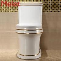 luxury nordic creative gold toilet seat toilet water saving deodorant mute european toilet super seat toilet
