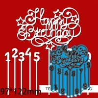 cutting dies letter happy birthday and candle diy scrap booking photo album embossing paper cards 97122mm